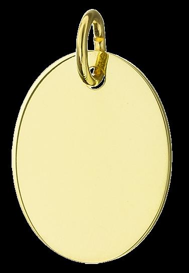 Gravurplatte oval glänzend 585/