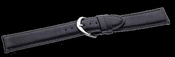Lederband schwarz, Stahlschließe LB20