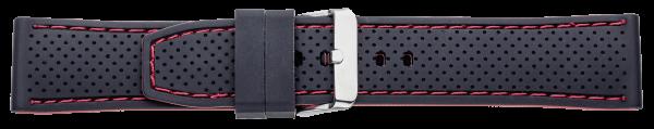 Silikon-Band schwarz/rot 0535