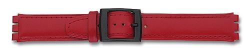 Lederband mit Spezialansatz rot 310