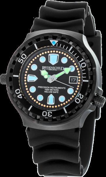 Riedenschild Herrenuhr 1000M Kampfschwimmer Black Watch Armee Taucheruhr Datum RS9000-02