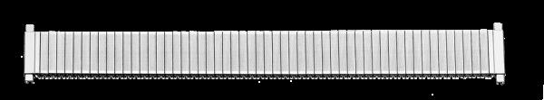 Edelstahlzugband mit Teleskop-Anstoß 0172