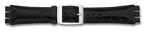 Lederband mit Spezialansatz schwarz 312