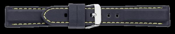 Silikon-Band schwarz mit gelber Naht 0555