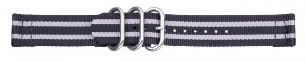 Zulu-Band schwarz - grau 0422
