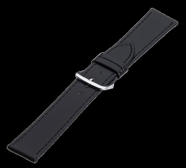 Lederband schwarz, Stahlschließe LB 7