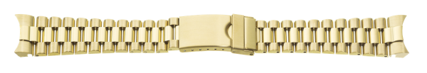 Edelstahlverschlussband massiv vergoldet 0165