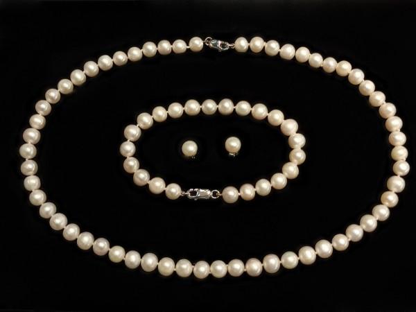 Süßwasser Perlen-Set