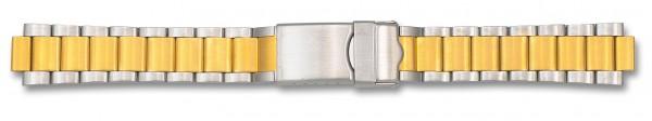 Edelstahlverschlussband bicolor 017