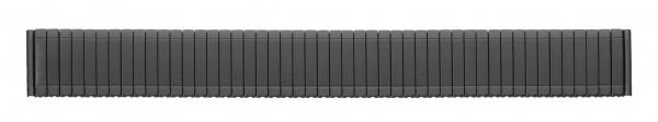 Edelstahlzugband PVD-schwarz 079