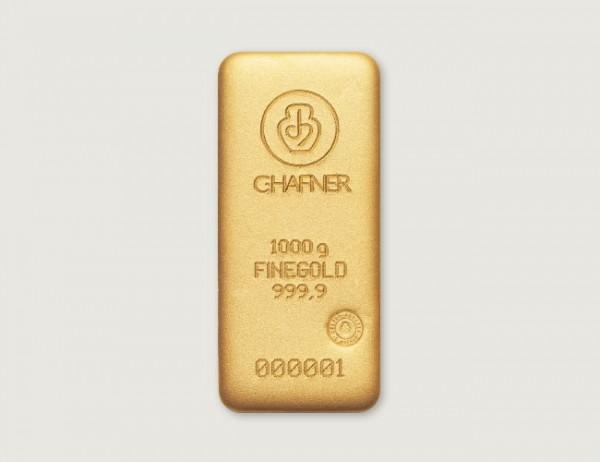 1 kg Goldbarren C. Hafner 999 Feingold