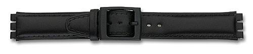 Lederband mit Spezialansatz schwarz 307