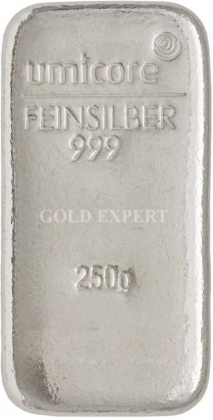 250 g Silberbarren Umicore - 999,9er Feinsilber