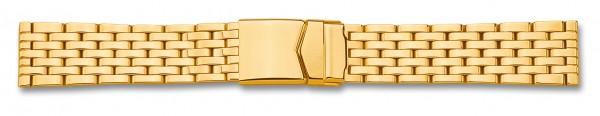 Edelstahlverschlussband massiv PVD vergoldet 064