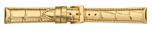 Lederband mit Krokoprägung goldfarben 0230
