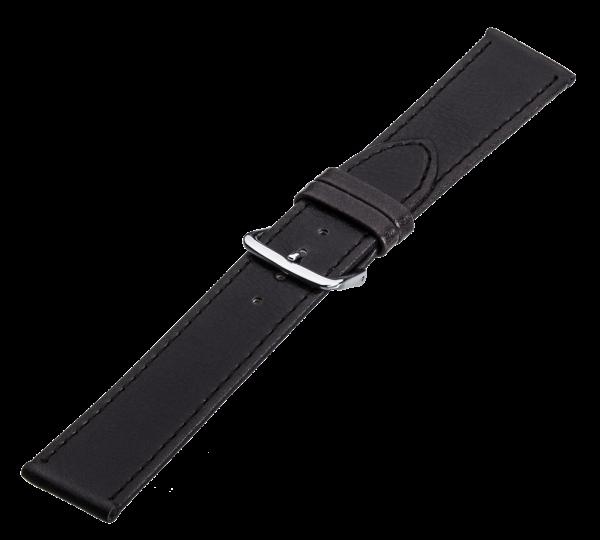 Lederband dunkelbraun, Stahlschließe LB 9