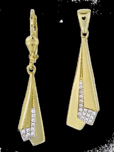 Ohrhänger mit Anhänger 333/- Gelbgold