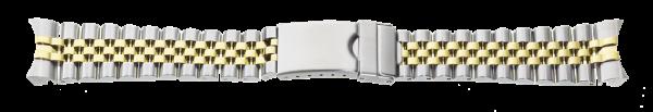 Edelstahlverschlussband massiv bicolor 0169